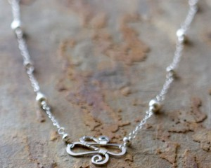 Squiggle Station Necklace